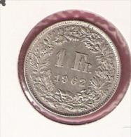 ZWITSERLAND 1 FRANC 1962 SILVER - Monnaies