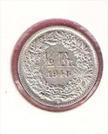 ZWITSERLAND 1/2 FRANC 1948 SILVER - Monnaies