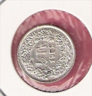 ZWITSERLAND 1/2 FRANC 1952 SILVER - Monnaies