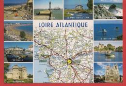 Carte Contour Géographique Du Département De La LOIRE-ATLANTIQUE - Non Classificati