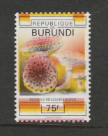 9] 1 Timbre 1 Stamp ** Burundi Champignon Mushroom Unwedged Coulours Couleurs Décalées - Altri