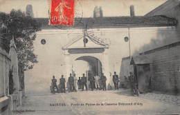 17 - SAINTES  -  Poste De Police De La Caserne Bremond D'Ars - 1912 - 2 Scans - Saintes