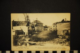CP, MILITARIA, GUERRE 1914-18, Ruines De VENDRESSE Et TROYON (aisne) Mairie Et Ecole, Vierge - Guerra 1914-18