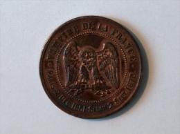 FRANCE Napoléon III Le Miserable, Vampire De La France, Médaille Satirique 10c, 1870 Sedan - Variétés Et Curiosités