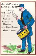JUVISY - 4e Bourse De Cartes Postales Anciennes Et Modernes - 1990 - Bourses & Salons De Collections
