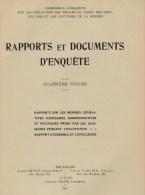 Commission D'enquête Sur Les Violations,  Rapports Et Documents D'enquête IV. Rapports Sur Les Mesures Légis - Guerre 1914-18