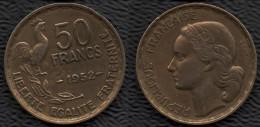 FRANCE 1952 Guiraud 50 F Pièce De Monnaie / Coin / Münze Bronze [J03b] - France