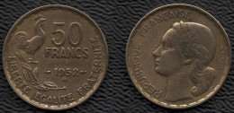 FRANCE 1952B Guiraud 50 F Lot De 1 Pièce De Monnaie / Coin / Münze Bronze [J03c] - France