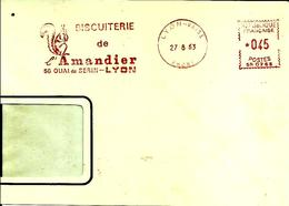 Lettre EMA Satas SR Biscuiterie De L´amandier  Alimentation Animaux Mammiferes Rongeurs Ecureuil    Theme  69 Lyon 48/38 - Rodents