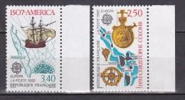 N° 2755 Et 2756 500ème Anniversaire De La Découverte De L´Amérique Par Chriustophe Colomb: - France