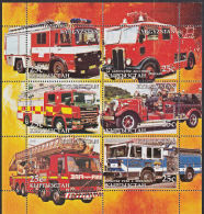 B5201 KYRGYZSTAN 2005, Fire Engines (Voiture Des Pompiers), Autos, M-sheet  MNH - Kyrgyzstan