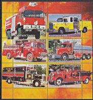 B5202 KYRGYZSTAN 2005, Fire Engines (Voiture Des Pompiers), Autos, M-sheet  MNH - Kyrgyzstan
