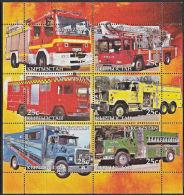 B5203 KYRGYZSTAN 2005, Fire Engines (Voiture Des Pompiers), Autos, M-sheet  MNH - Kyrgyzstan