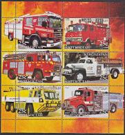 B5205 KYRGYZSTAN 2005, Fire Engines (Voiture Des Pompiers), Autos, M-sheet  MNH - Kyrgyzstan