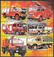 B5206 KYRGYZSTAN 2005, Fire Engines (Voiture Des Pompiers), Autos, M-sheet  MNH - Kyrgyzstan