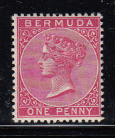 Bermuda MH Scott #19 1p Victoria, Aniline Carmine - Bermudes
