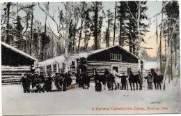 KENORA -  A RAILWAY CONSTRUCTION CAMP  (ANIMATION)  -S697 - Ontario