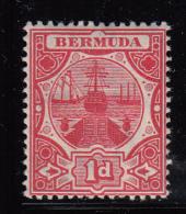 Bermuda MH Scott #35 1p Dry Dock, Carmine - Bermudes