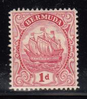 Bermuda MH Scott #83 1p Caravel Sailing Ship, Carmine, Die III - Bermudes