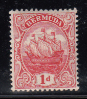 Bermuda MH Scott #83b 1p Caravel Sailing Ship, Carmine, Die I - Bermudes