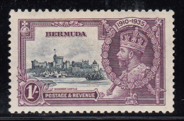 Bermuda MH Scott #103 1sh Windsor Castle - 1935 Silver Jubilee - Bermudes