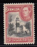 Bermuda MH Scott #121 3p St. David´s Lighthouse, George VI - Bermudes