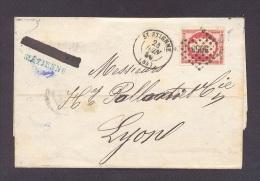 LOIRE 42 SAINT ETIENNE LSC Tad 15 Du 24/06/1859  PC 3053 Sur N° 17 80 C Empire ND (très Bien Margé)  TTB - Marcophilie (Lettres)
