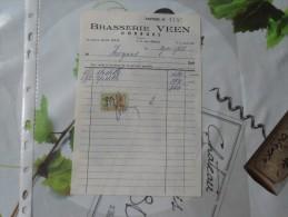 1 FACTURE BRASSERIE VEEN (Horrues) - Invoices
