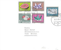 PP 1959 Zu 91-95 Mi 674-678 Satzbrief Mit O BAAR 10.10.66  Lange NACH Gültigkeit - Lettres & Documents