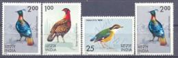1975. India, Birds Of India, 4v, Mint/**