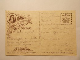 Carte Postale - TEGUMSEH Michigan Chicago Blvd - Dr.I.S.Hamilton House  (192 & 193/100) - Etats-Unis