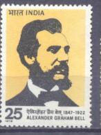 1976. India, Birth Anniversary Of Alexander Bell, 1v, Mint/**