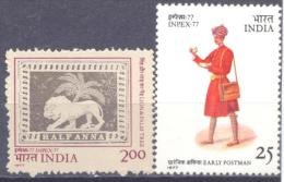 1976. India, Philatelic Exhibition IMPEX´77, 2v, Mint/**