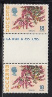 Bermuda MNH Scott #265 Gutter Pair 18c Coralia - Flowers - Bermudes