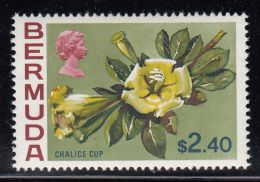 Bermuda MNH Scott #271 $2.40 Chalice Cup - Flowers - Bermudes