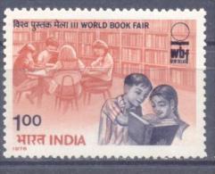 1978. India, World Book Fair, 1v, Mint/**