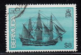 Bermuda Used Scott #498 $8.00 HMS Pallas - Shipwrecks - Bermudes
