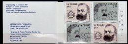 1997 Sweden / Schweden - Nobel Prize Laureats -A.Nobel And P.Karter - Full MH With Cylinder And Running Number -MNH** - 1981-..