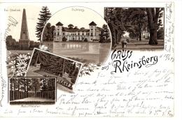 Allemagne - Brandebourg , Litho-AK Gruss Aus Rheinsberg Vorläufer 1897 - Rheinsberg