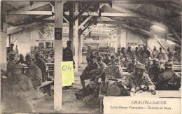 CHALON Sur SAONE  71 Croix Rouge Francaise  Cantine De Gare Belle Animation + Enseignes - Militaria