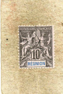"REUNION : Allégorie, Avec ""REUNION"" En Bleu  Dans Le Cartouche - - Usados"