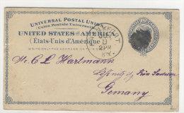 USA Ganzsache 1887 gebraucht