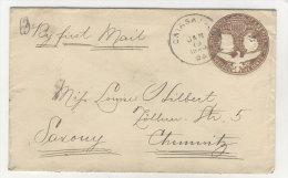 USA Ganzsache 1894 gebraucht nach Chemnitz