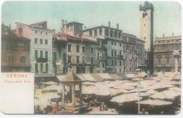 VERONA PIAZZA DELLE ERBE 104 VERONAFIL  SCHEDA TELEFONICA TELECOM 1968 - Italia