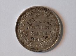 UK BANK TOKEN 3 SHILL 1815 - 1662-1816 : Antiche Coniature Fine XVII° - Inizio XIX° S.