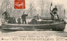 PUTEAUX - Innondations Janvier 1910 -  L'Eugène Et Juliette  - - Puteaux