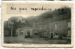 - Spixhe -Theus - Café-Restaurant Léon Pelle, écrite , BE, Scans - Theux