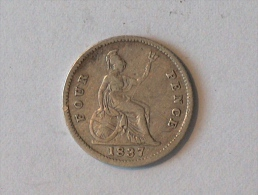 UK 4 Pence GROAT 1837 Pences - 1816-1901 : Frappes XIX° S.
