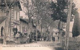 FRANCE C.P.A  81  TARN   CESTAYROLS  Avenue De La Gare Les Ecoles La Mairie  (en L´état) - France