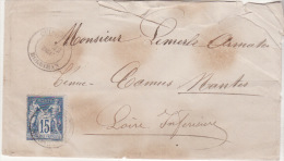 QUIBERON - LAC 1881 - Cachet +TYPE SAGE 15 - 1877-1920: Periodo Semi Moderno
